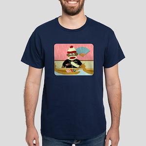 Sock Monkey Sushi Boat Dark T-Shirt