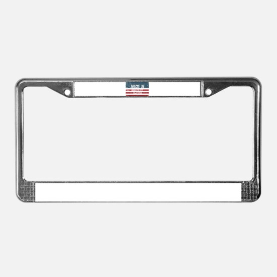 Made in Hamilton City, Califor License Plate Frame