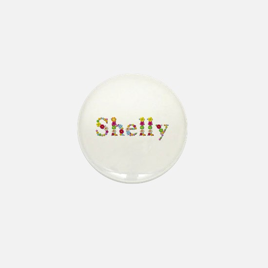 Shelly Bright Flowers Mini Button