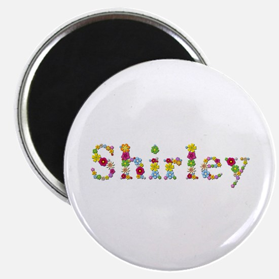 Shirley Bright Flowers Round Magnet 10 Pack