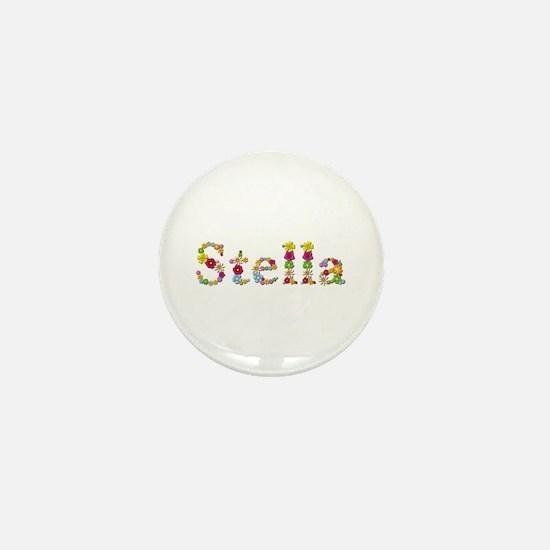 Stella Bright Flowers Mini Button