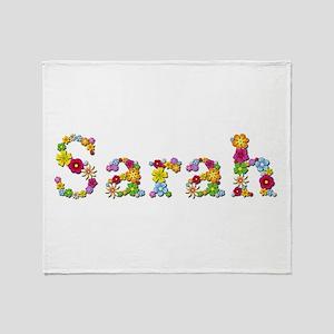 Sarah Bright Flowers Throw Blanket