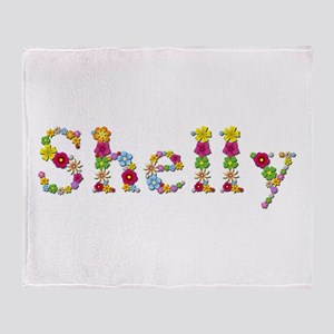 Shelly Bright Flowers Throw Blanket