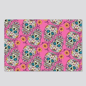 Sugar Skull Halloween Pin Postcards (Package of 8)