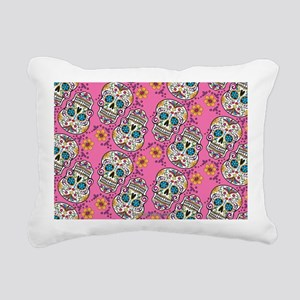 Sugar Skull Halloween Pi Rectangular Canvas Pillow