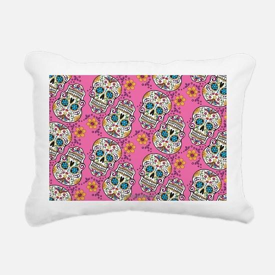 Sugar Skull Halloween Pi Rectangular Canvas Pillow