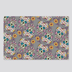 Sugar Skull Halloween Gre Postcards (Package of 8)