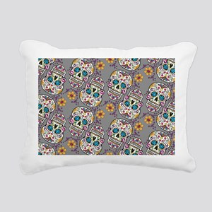 Sugar Skull Halloween Gr Rectangular Canvas Pillow