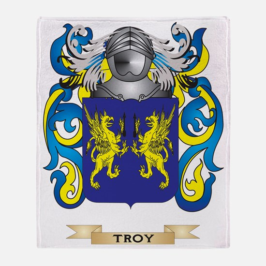 Troy Family Crest (Coat of Arms) Throw Blanket
