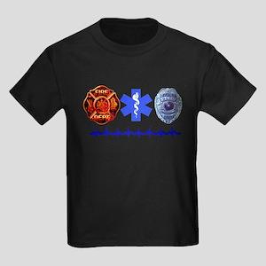 Superhero- Back Design Kids Dark T-Shirt