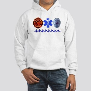 Superhero- Back Design Hooded Sweatshirt