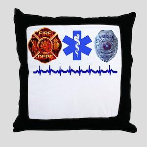 Superhero- Back Design Throw Pillow