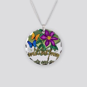 Butterflyfriend Necklace Circle Charm