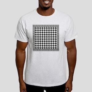 Black   White Houndstooth Pattern Light T-Shirt
