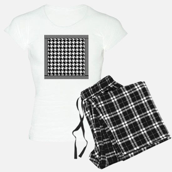 Black | White Houndstooth P Pajamas
