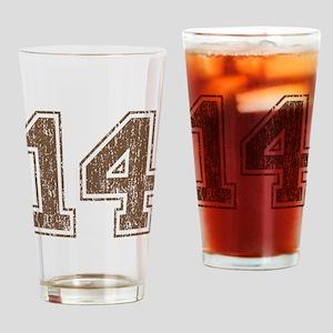 Retro 14 Brown Drinking Glass