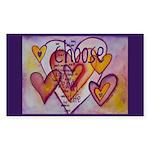 Love Hearts + Poem Words Sticker (Rectangle)