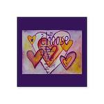 Love Hearts + Poem Words Square Sticker 3