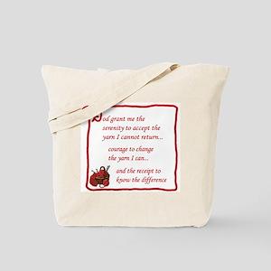 Yarnaholic prayer Tote Bag