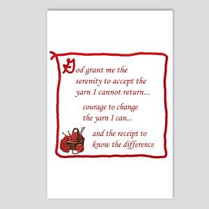 Yarnaholic prayer Postcards (Package of 8)