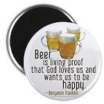 Beer is Proof Franklin Magnet