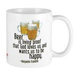 Beer is Proof Franklin Mug