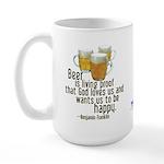 Beer is Proof Franklin Large Mug