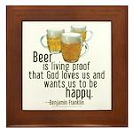 Beer is Proof Franklin Framed Tile