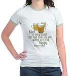 Beer is Proof Franklin Jr. Ringer T-Shirt