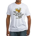 Beer is Proof Franklin Fitted T-Shirt