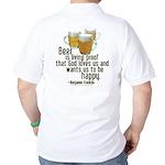 Beer is Proof Franklin Golf Shirt