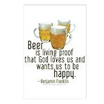 Beer is Proof Franklin Postcards (Package of 8)
