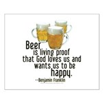 Beer is Proof Franklin Small Poster
