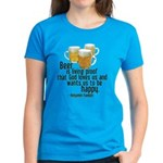 Beer is Proof Franklin Women's Dark T-Shirt