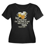 Beer is Proof Franklin Wm Plus Sz Scoop Nk Dk Tee