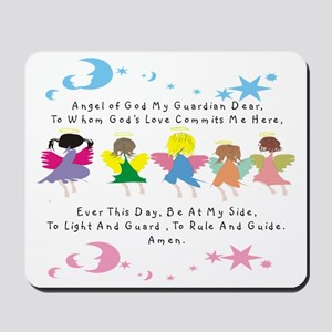 angel of God Twin WHITE Mousepad