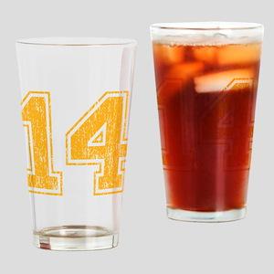 Retro 14 Yellow Drinking Glass