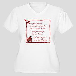 Yarnaholic prayer Women's Plus Size V-Neck T-Shirt