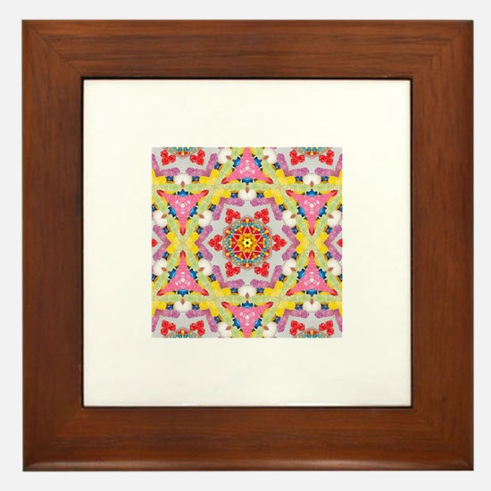 Pink sweets, Yum! Framed Tile