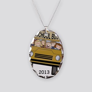 Best Bus Driver 2013 Necklace Oval Charm
