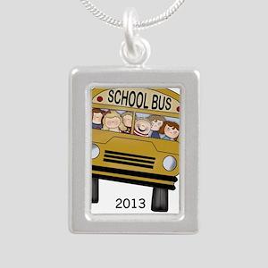 Best Bus Driver 2013 Silver Portrait Necklace