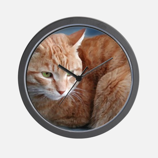 Funny Cats curled up Wall Clock