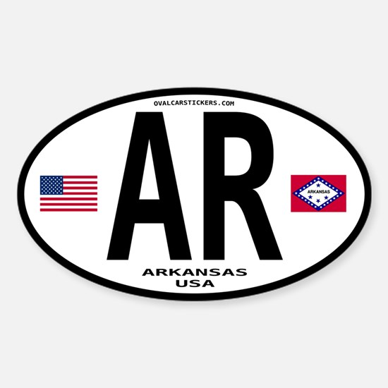 Arkansas Euro Oval Oval Decal