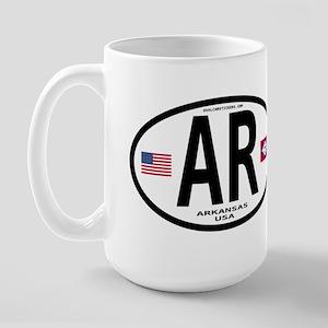Arkansas Euro Oval Large Mug