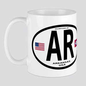 Arkansas Euro Oval Mug