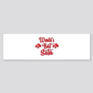 10x10_apparelwordlsbestsister Sticker (Bumper)
