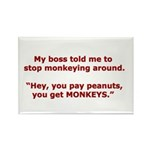 Pay Peanuts? Get Monkeys. Rectangle Magnet (100 pa