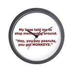 Pay Peanuts? Get Monkeys. Wall Clock