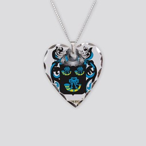 Tustin Family Crest (Coat of  Necklace Heart Charm