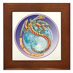 Magic Moon Dragon Framed Tile